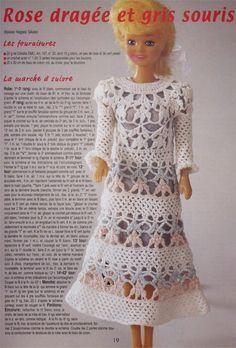 Barbie Crochê Miniaturas e Coisas Mais - De Tudo Um Pouco e Muito Mais: Vestido de Crochê Para Barbie Com Gráfico - 1000 Mailles Robes de Poupées