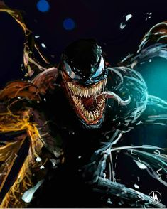 """You are watching the movie Venom on When Eddie Brock acquires the powers of a symbiote, he will have to release his alter-ego """"Venom"""" to save his life. Marvel Comics, Venom Comics, Marvel Art, Marvel Heroes, Marvel Avengers, Venom Spiderman, Marvel Venom, Spiderman Art, Amazing Spiderman"""