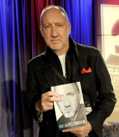 Author/musician Pete Townshend of The Who signs his new book 'Who Am I' at the GRAMMY Museum on January 30, 2013 in Los Angeles, California