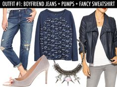 One Pair Of Boyfriend Jeans, Three Ways To Wear Them