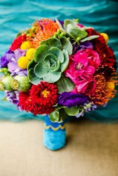 bright & colorful wedding colors