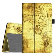 Fintie Folio Case for AllNew Amazon Fire HD 8 6th Generation 2016 release Slim Fit Premium Vegan Leather Standing Cover Auto WakeSleep for Fire HD 8 Tablet 2016 6th Gen Only Ancient Map -- Click the VISIT button to find out more