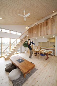Pin by feve casa (フェブカーサ) on 階段で家が変わる。 The house changes on the stairs. Modern Japanese Interior, Japanese Modern House, Japanese Home Design, Japanese Home Decor, Asian Home Decor, Home Room Design, Home Interior Design, Interior Decorating, House Design
