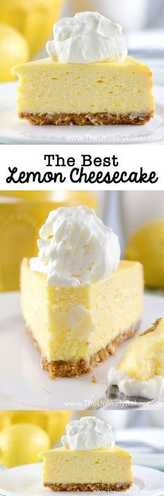 The Best Lemon Cheesecake. Ever