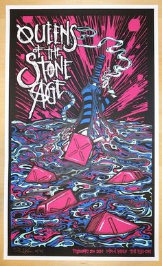 2014 Queens of the Stone Age - Miami Concert Poster by Klausen
