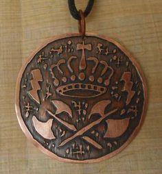 Medalha De Xango - Coroa, Oxés E Raios - R$ 45,00
