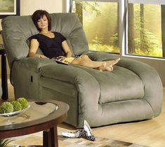 Oversized lounger/recliner for all the hours I'll spend in it reading