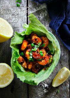 Sweet & Spicy Shrimps #recipe #homemade