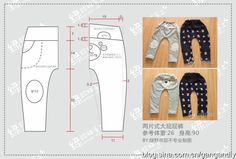 (老绿手工)简单好做的裤子<wbr><wbr>附裁剪图