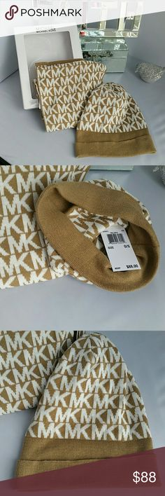 Michael Kors scarf and hat set Brand new with tags 100%Authentic   Michael Kors MK logo scarf and hat of set.  Make this set the perfect gift for you or a loved one. Michael Kors Accessories Scarves & Wraps