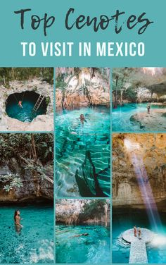 Mexico is home to some of the most incredible cenotes in the world! If you're traveling to Tulum, Cancun, Riviera Maya or Playa Del Carmen, read through our guide for all the top cenotes to visit in these areas! Mexico Vacation, Mexico Travel, Vacation Spots, Maui Vacation, Mexico Destinations, Travel Destinations, Mexico Resorts, Merida, México City