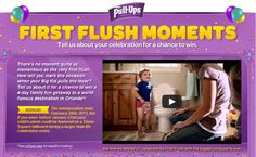 Hey, mom! Join Pull-Ups in New York City for the 'Larger-Than-Life First Flush Celebration' in Times Square AND enter the First Flush Moments Sweepstakes - WIN a trip to Disney World!