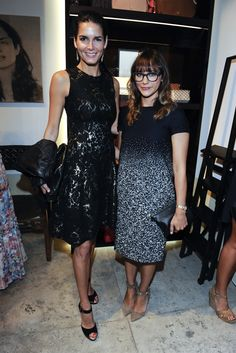 Angie Harmon and Rashida Jones, both in Carolina Herrera at the CH Carolina Herrera Store Opening in L.A. [Photo by Amy Graves]