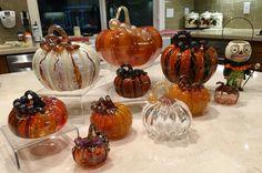 Halloween Glass Pumpkins