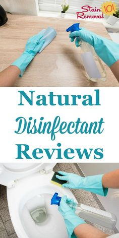 Here is a round up of natural disinfectants reviews, in both spray and wipe form, for use in your home so you can learn the best products to kill germs without harming the environment {on Stain Removal 101} Deep Cleaning Tips, House Cleaning Tips, Car Cleaning, Cleaning Solutions, Spring Cleaning, Cleaning Hacks, Cleaning Products, Cleaners Homemade, Diy Cleaners