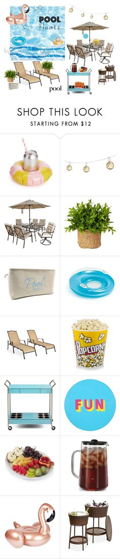 """Soak Up The Sun: Pool Party"" by azulangelique ❤ liked on Polyvore featuring interior, interiors, interior design, home, home decor, interior decorating, ban.do, Bulbrite, Concepts in Time and Hanover"