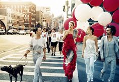 red balloons, vogue