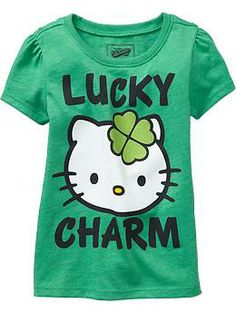 "Hello Kitty® ""Lucky Charm"" Glitter Tees for Baby/Toddler OldNavy.com"