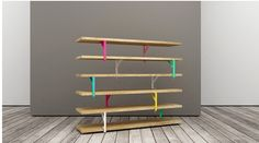 3. ETAGERE + EQUERRE EKBY = BIBLIOTHEQUE DESIGN