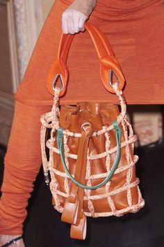 Acne giant fishnet bag