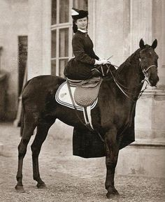 Sisi on Horse by , via Flickr
