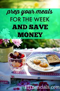 By prepping your meals each week you will not only save time throughout the week making the meals, you'll save calories as well! And you can most likely save money too. Super Cheap Meals, Quick Cheap Dinners, Cooking For A Crowd, Cooking On A Budget, Clean Eating Snacks, Healthy Snacks, Healthy Recipes, Frugal Meals, Budget Meals