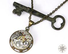 watch parts necklace steampunk