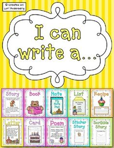 My FAVORITE writing menu! It has adorable posters AND writing templates to match. This is perfect for work on writing