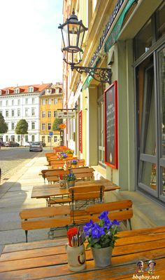 Typical cafe in Dresden, Germany. Guide to the 10 Things to See and Do in Dresden: http://bbqboy.net/10-things-see-dresden-germany/ #dresden #germany