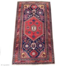 Antique Caucasian Shirvan Rug, very good condition, original sides, late 19th century
