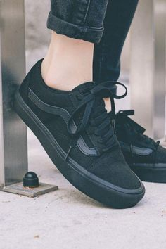 Women& sneakers with which you can rock the outfit . - Women& sneakers with which you can rock the outfit … – Shoes – - Cute Shoes, Women's Shoes, Me Too Shoes, Shoe Boots, Top Shoes, All Black Vans, All Black Sneakers, Ladies Sneakers, Vans Black Old Skool