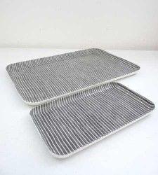 pair of linen trays