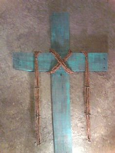 Pallet scrap wood cross.