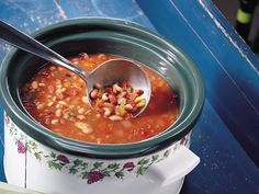 Slow Cooker Easy Multi-Bean Soup  I'm going to make this dish with a little twist. I plan to add diced chicken breast,  minced garlic, and spicy smoked turkey sausage! This is my first time trying it, so I hope it turns out ok!