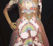 Inspiring image cottoncandy, gowns, mermaids, princess, rainbow by Sharleen - Resolution - Find the image to your taste Favim, Runway, Two Piece Skirt Set, Bodycon Dress, Rainbow, Gowns, Princess, Formal Dresses, Skirts