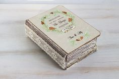 Autumn ring bearer box Rustic wedding box Wedding ring box