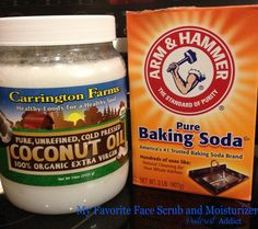 Baking Soda and Coconut Oil - Best face scrub and moisturizer out there!