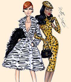 Hayden Williams, amazing British fashion illustrator
