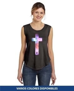 Sin Mangas - Cruz Tank Tops, Women, Fashion, Halter Tops, Christian T Shirts, Christians, Colors, Moda, Fashion Styles