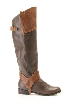 Restricted Belmont Flat Boots in Brown