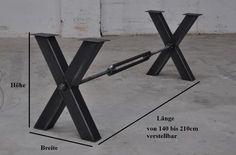 Brace Stahl Tischgestell Kreuz mit Strebe