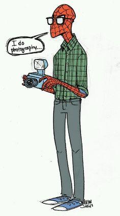 Hipster Spiderman . Allison Smith