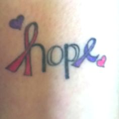 Breast cancer and epilepsy tattoo! What a great way to honor the struggles of those you love. Do you have an awareness tattoo? #Epilepsy #Cancer #Awareness #Tattoo