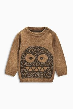 Tan Monster Crew Neck Top (3mths-6yrs) from Next