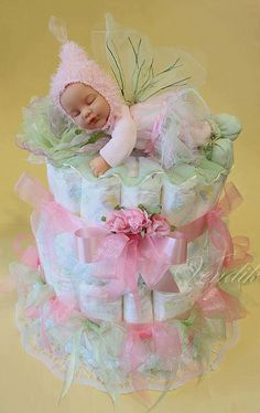 Baby - Baby - Baby Tips Regalo Baby Shower, Torta Baby Shower, Baby Shower Baskets, Baby Shower Crafts, Diaper Shower, Baby Shower Diapers, Baby Shower Parties, Diaper Cake Boy, Nappy Cakes