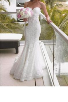 Pnina Tornai Lace Mermaid Wedding Dress 4180