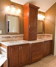 Master Bathroom Remodel Colonial Gold Granite Countertop Granite Austin Texas