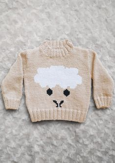 Intarsia - Sheep Face Chart & Childrens Sweater The pattern comes with written knitting instructions for sweater 0 - 5 years and the Sheep Face chart. The chart can be used with any INSTARSIA pattern. See more See less Intarsia Knitting, Sweater Knitting Patterns, Knitting Charts, Knit Patterns, Pixel Crochet Blanket, Sheep Face, Fair Isle Pattern, Baby Sweaters, Bead Art