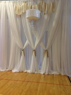 draped wall treatments :: pre wedding house decor