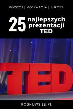 """TED (Technology, Entertainment and Design – Technologia, Rozrywka i Design) to rozpoznawalna na całym świecie marka konferencji. Hasłem przewodnim tych wydarzeń jest promocja i szerzenie """"Idei wartych propagowania"""" (ang. """"Ideas worth spreading"""").  Na konferencji TED co roku występuje wielu świetnych mówców i znanych osób.   Obejrzyj najlepsze i najbardziej popularne wystąpienia TED.  #blog #motywacja #rozwój #sukces #myśli #pieniądze #psychologia #inspiracja #marzenia #umysł #szczęście… Ted Talks, Staying Organized, Self Development, My Life, Organization, Cool Stuff, Learning, Flipping, Bullet"""